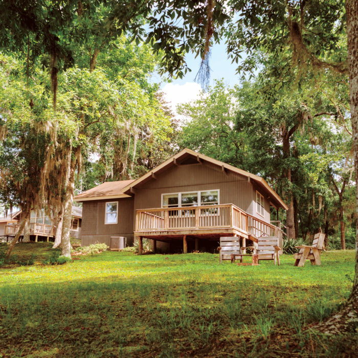 Outdoor view of the Cabin